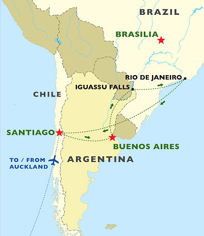 South American Sampler map