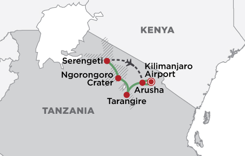 Tanzania Migration map