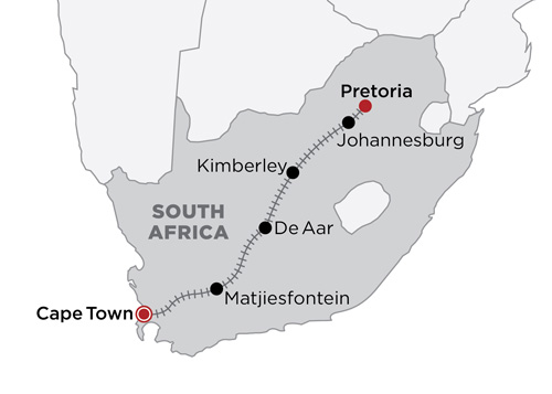 The Blue Train map