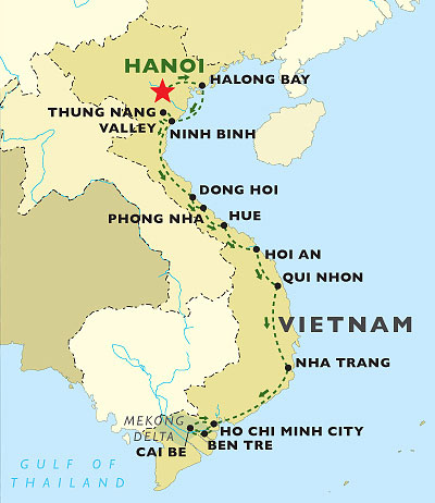 Vietnam in Style map