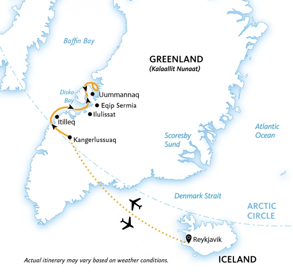 West Greenland: Disko Bay map