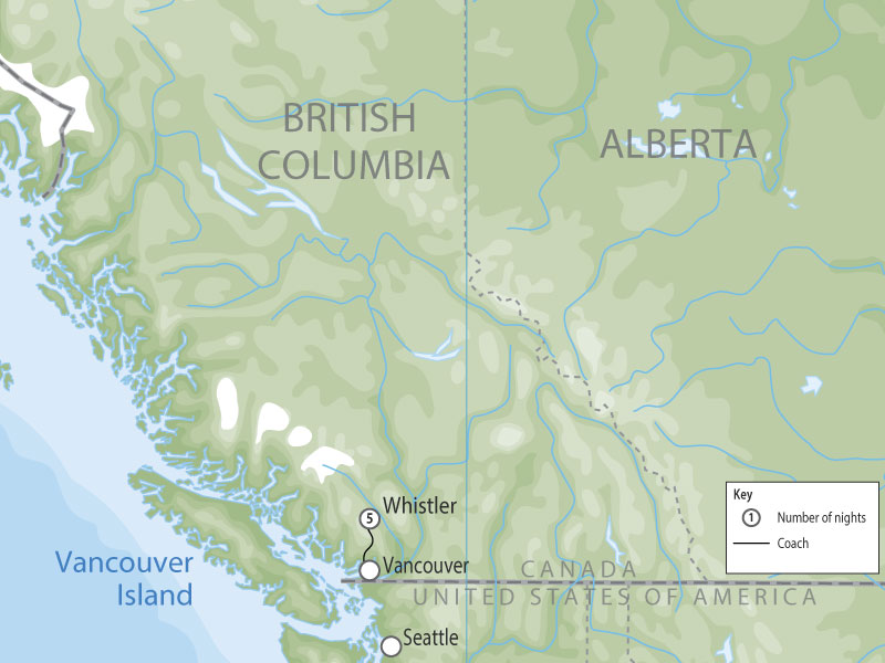 Whistler Winter Experience map