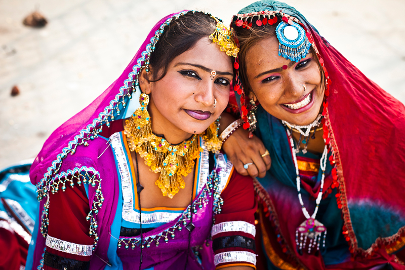 Traditionally dressed Indian women