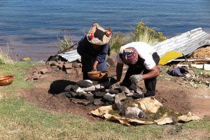 Underground Cooking, Lake Titicaca